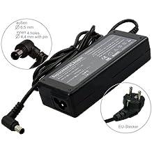 90W Alimentador Cargador Notebook AC Power compatible con Sony Vaio VGN-FW21L VGN-FW21M VGN-FW21MR VGN-FW21SR VGN-FW21Z VGN-FW3 VGN-FW31J VGN-FW31M VGN-FW31ZJ VGN-FW32J, con eurocable