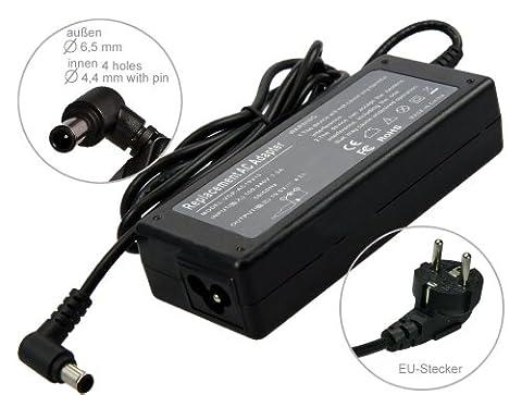 90W Adaptateur chargeur secteur AC Adapter pour ordinateur portable Sony Vaio FS315E NSW24063 PCG-7134M PCG-7141M PCG-7143M PCG-715 PCG-7151M PCG-7D1M PCG-7V1M PCG-8A8M PCGA-AC19V10 PCGA-AC19V11 PCGA-AC19V14 PCGA-AC19V6 PCG-FR PCG-FR100 PCG-FR102 PCG-FR105 PCG-FR130 PCG-FR130U. Avec câble d´alimentation standard européen. De