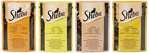 Sheba Fine Flakes Cat Pouches in Jelly, 85 g,