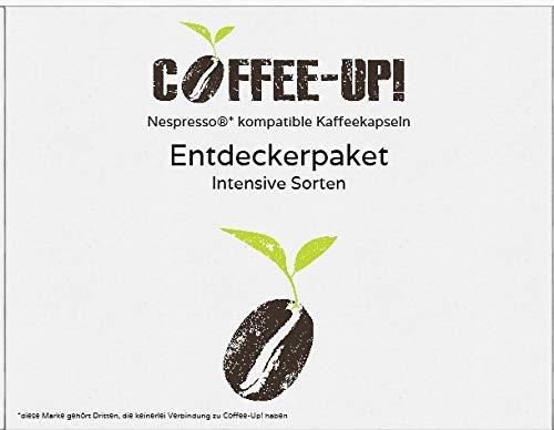 Coffee-Up-Entdeckerpaket: 9 intensive Sorten - kompostierbare & aluminiumfreie Bio-Kaffeekapseln, Nespresso® kompatibel