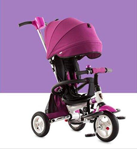 Bici per neonati Triciclo per bambini pieghevole 1-3-6 anni passeggino bimbo bici bimbo ( Colore : Viola )