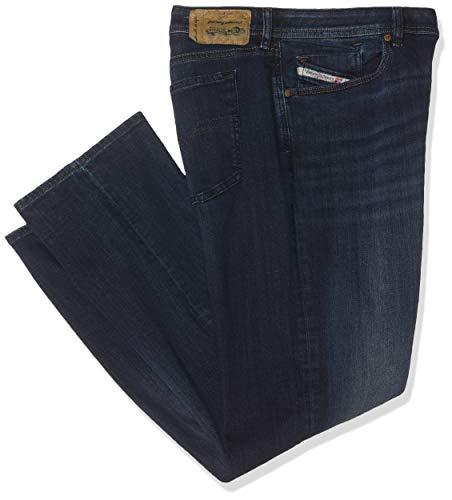 Diesel Herren Straight Jeans Waykee, Blau (Dark Blue 0814W), W34/L34