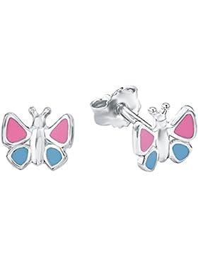 amor Kinder-Ohrstecker Mädchen Schmetterling 925 Sterling Silber rhodiniert  - 422499