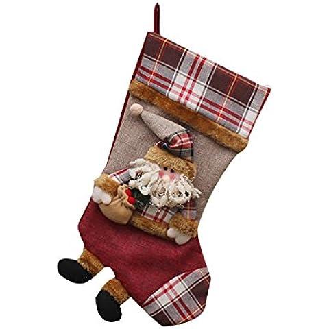 Navidad regalo de Navidad Calcetines de embalaje Decoración del ornamento del árbol de Suministros Bolsas-Santa Claus