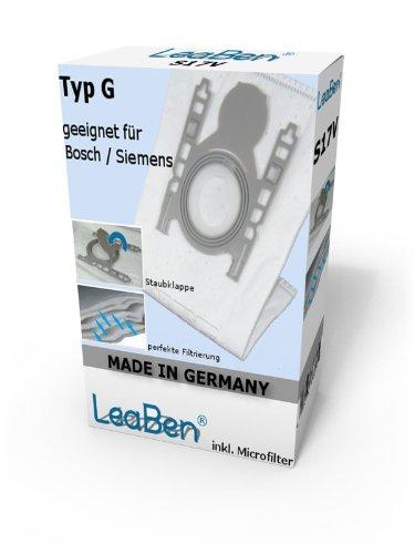 20 Staubsaugerbeutel geeignet für Siemens VS06G2410 VS06B112A synchropower Typ G, Made in Germany #S17GR