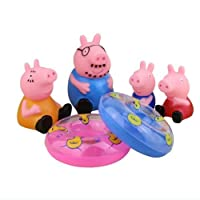 Peppa pig 6/PCS Classic Toys Pappa Pig with squeak sound educational for kids