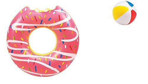 Bavaria Home Style Collection Mega Donut Schoko Schwimmring Schwimm Ring aufgeblasen ca. 119 cm Durchmesser ca. 46 cm, PVC Folie ca. 0,20 mm Super Schwimmspass Kinder Spass