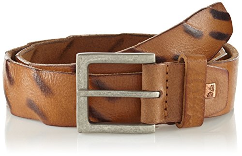 Lindenmann The Art of Belt by Mens leather belt/Mens belt, full grain leather belt buffalo leather, Unisex, cognac
