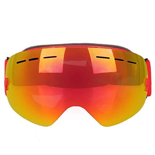 Skibrille, Snowboardbrille UV-Schutz, Schneebrille Helm kompatibel für Männer Frauen Jungen Mädchen Kinder, Anti Fog Wechselobjektiv