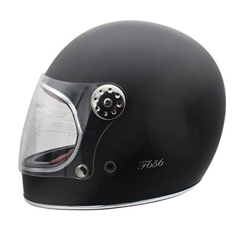 Viper F656vintage en fibre de verre Full Face casque de moto Noir mat