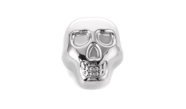 Stainless Steel Skull Ice Cube Cooling Beer y Wine Cocktail Rock Cooler S