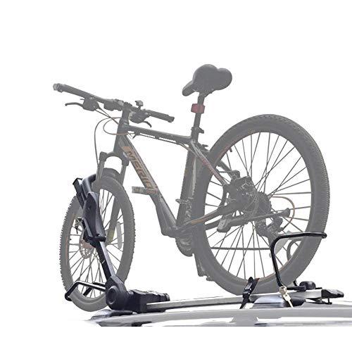 BINGFENG Portabici da Tetto per Auto Portabici Universale per Auto Biciclette cremagliera trasporta Telaio Singolo 110CM Car Top Bicycle Rack
