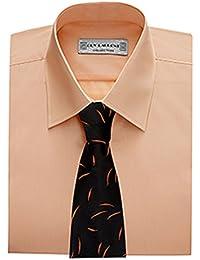 Chemise de Cérémonie Homme manches longues couleur saumon