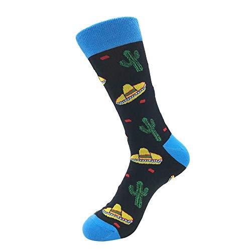 Bayliney 1 Paar Unisex BeiläUfig Baumwolle Socken Mode Herren Frau Taro Banane Raumschiff Muster Atmungsaktiv StrüMpfe Schlafen Sportlich Süß Karikatur Neuheit Komisch Tier Crew MäNner (E)