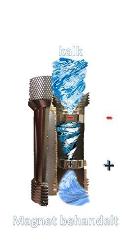 Kalkschutz Magnetischer Wasserentkalker Anti Kalk Magnet 3/4' Anschluss Zulaufschlauch Spülmaschine Waschmaschine