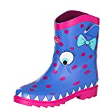 Animal Girl's Boo Wellington Boots - Persian Blue