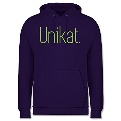 Statement Shirts - Unikat - Männer Premium Kapuzenpullover / Hoodie Lila