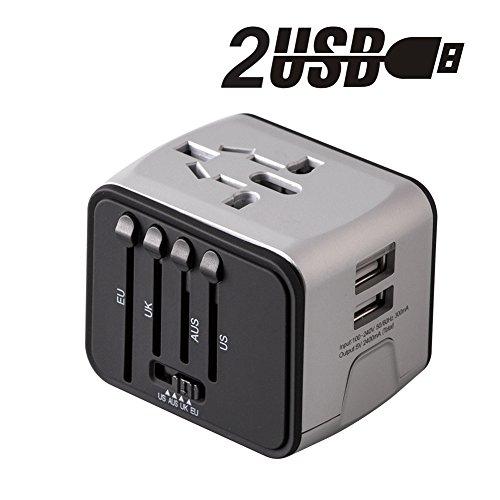 Adaptador-de-Viaje-enchufe-Universal-Adaptador-Cargador-de-Pared-con-doble-puerto-USB-de-24A-cubre-ms-de-150-pases-Europa-Canad-Mxico-Brasil-y-ms-para-dispositivos-Android-y-IOS-MiloolPlateado