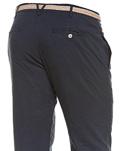 BLZ jeans - Pantalon lin bleu navy homme détente Bleu