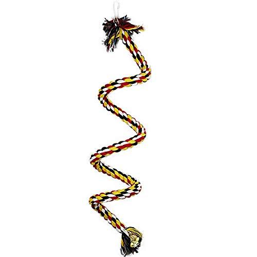 Beaurce Seil Bungee Spielzeug, Vogel Spielzeug Lanyard Baumwolle Seil vogelkäfig kletterseil stehend schaukel Spielzeug papagei kauen Spielzeug -