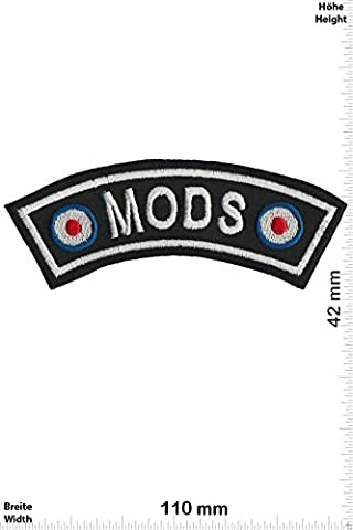 Patches - Vespa - Mods - curve - Motor sports - Sports Motorcycle Vespa - Iron on Patch - Applique embroidery Écusson brodé Costume Cadeau- Give Away