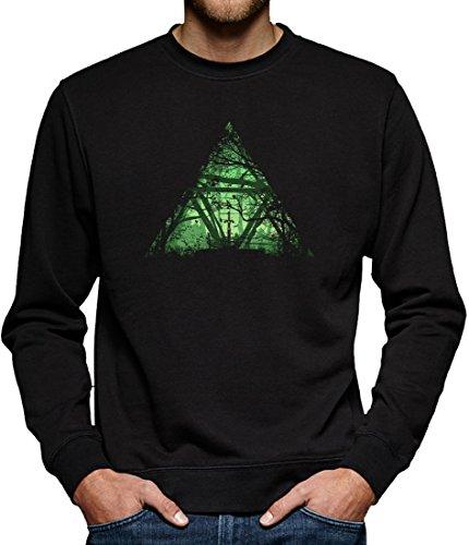 TLM Tri-Force Wood Sweatshirt Pullover Herren XXXXL Schwarz