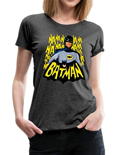 Kostüm Adam Batman West - DC Comics Batman Retro Schauspieler Titelsong Frauen Premium T-Shirt, 3XL (46), Anthrazit