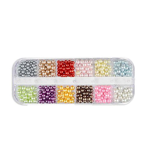 fish 12 Grids Ongles Glitter Sequin Mixte Ronde/Star Lune/Perle Bricolage Flake Nail Art Autocollant Décorations