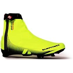 Barnett BSP-05 - Cubrezapatillas de ciclismo amarillo Yellow and Black Talla:large