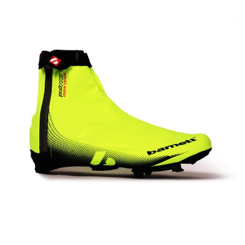 BARNETT BSP 05   CUBREZAPATILLAS DE CICLISMO AMARILLO YELLOW AND BLACK TALLA:LARGE