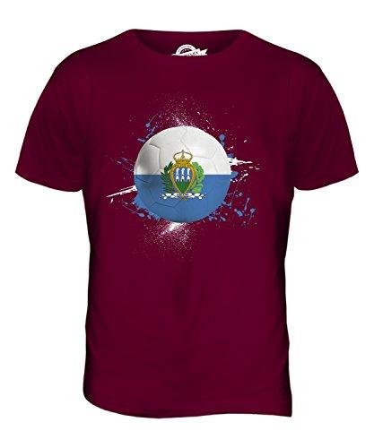 CandyMix San Marino Fußball Herren T Shirt Burgunderrot