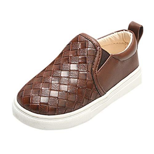 Patifia Unisex Baby Jungen Mädchen Einzelne Schuhe, Kleinkind Britischer Stil Lederschuhe, Einfarbig Gingham Freizeitschuhe Lauflernschuhe Kleinkindschuhe Kinder Schuhe
