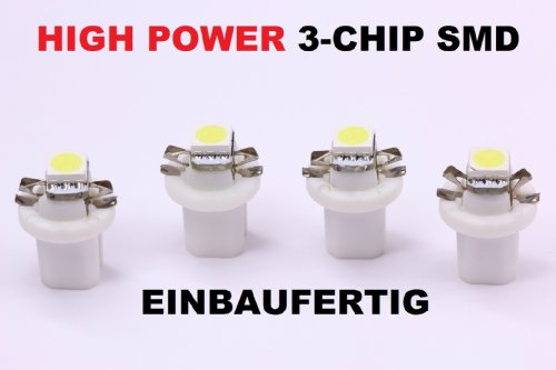 4-x-weisse-high-power-smd-led-tacho-beleuchtung-opel-vectra-a-astra-f-calibra-weiss