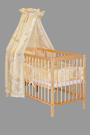 "KOKO -Babybett |""JULIA"" | Komplett | 120x60 cm | Designwahl (Design: Wolke gelb)"
