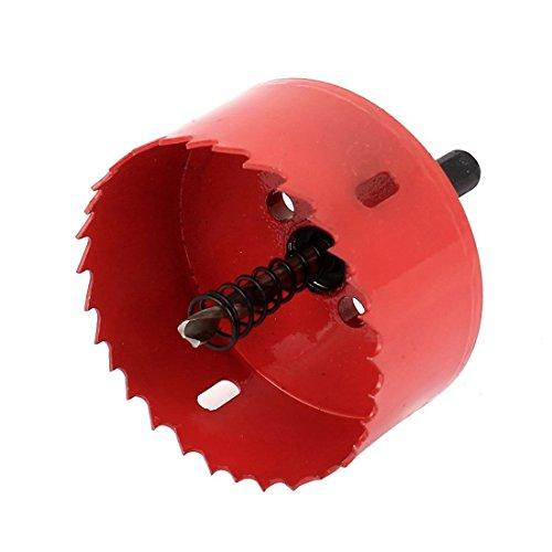 Lochsaege - SODIAL(R) Holz, Eisen, 75 mm, Dia, gezahnten BI Metall Lochsaege Cutter Bohrer, Rot