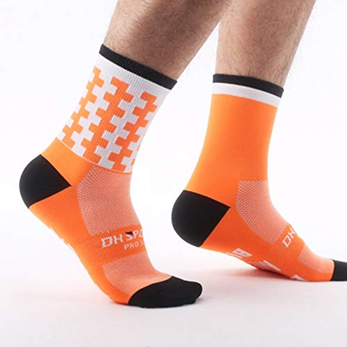 iUcar DH-16 Outdoor Radsport Socken Männer Frauen Atmungsaktive Sportsocken Basketball Socken - fluoreszierend orange