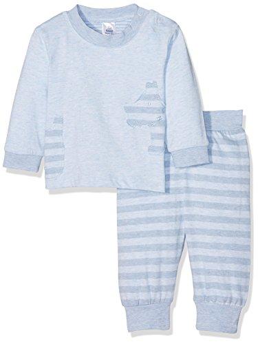 Kanz Baby-Jungen Bekleidungsset T-Shirt 1/1 Arm + Hose, Blau (Skyway Melange 8264), 56