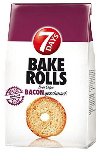 Preisvergleich Produktbild 7 Days Bake Rolls Bacon,  Brotchips - 250g - 2x