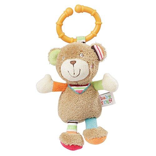 Fehn 091281 Mini-Kuscheltier Teddy, Oskar, mehrfarbig
