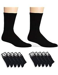 Cliff Edge atmungsaktive PREMIUM Socken aus Baumwolle für Business und Freizeit | Farbe schwarz navy blau | (5 Paar) (10 Paare)