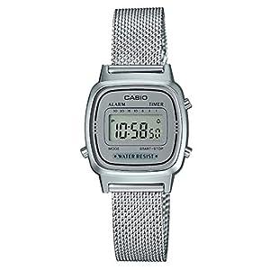 Reloj Digital de Cuarzo para Mujer de Casio con Correa de Acero Inoxidable