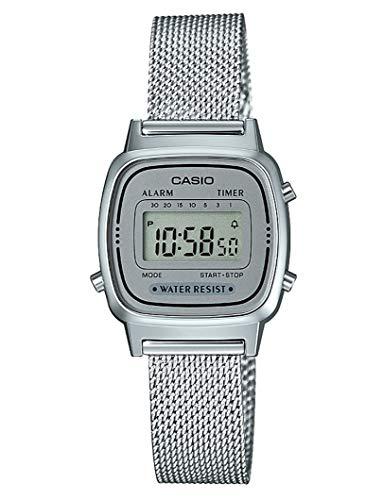 Casio Damen Digital Quarz Uhr mit massives Edelstahl Armband LA670WEM-7EF