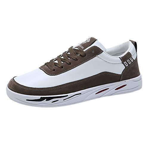 Herren Sneaker,ABsoar Sportschuhe Männer Freizeitschuhe Student Laufen Wanderschuhe Lässige Schuhe Schnürschuhe Niedrige Schuhe Atmungsaktive Skateboard-Schuhe