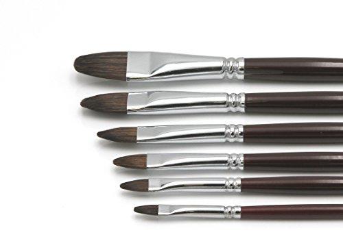 """Paintersisters-Neuss Künstler Pinselset 1"""" für Acryl & Ölfarbe, 6 hochwertige Pinsel aus Naturhaar Größen 2-18, Katzenzungen Premium Set 1"""