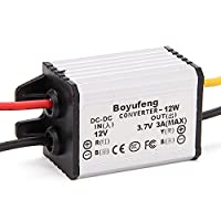 WEONE Silver 12V To 3.7V 3A 12W Car Step-down Converter With Overvoltage Protection