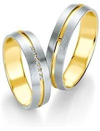Breuning Trauringe Design DR052030/HR052040 - Gelbgold/Weißgold