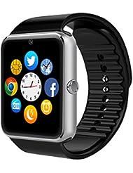 Smart Watch, culturesin GT08Touch Screen Bluetooth del reloj con la máquina fotográfica/SIM Card Slot/Análisis podómetro/Sleep Seguimiento para Android (funciones Complete) y iOS (funciones parziali), negro