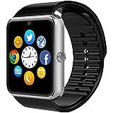 Smart Watch, CulturesIn GT08 Touch Screen Bluetooth Armbanduhr mit Kamera / SIM Kartensteckplatz / Schrittzähleranalyse / Schlafüberwachung für Android (Vollfunktionen) und IOS (Teilfunktionen) (black)