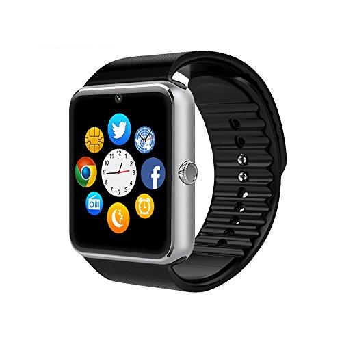 Smart-Watch-CulturesIn-GT08-Touch-Screen-Bluetooth-Armbanduhr-mit-Kamera-SIM-Kartensteckplatz-Schrittzhleranalyse-Schlafberwachung-fr-Android-Vollfunktionen-und-IOS-Teilfunktionen