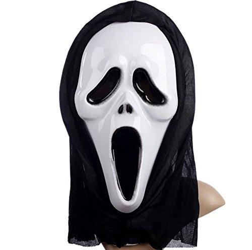 Männer und Frauen Halloween Schrei Scary Ghost Face Maske (A) (Kind Jünger Kostüm)